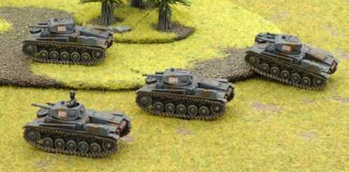 The Panzer II C (early) platoon take the field