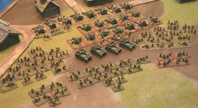 2000 points of painted Soviet infantry, guns and assault guns