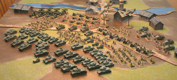 Here is a final photo of my entire Soviet Army, totaling 6000 points