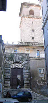 Side view of Orsini Castle