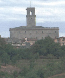 Orsini Castle dominating the hights of Monterotondo