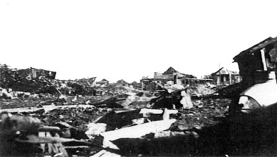 The rubble around the Red October factory