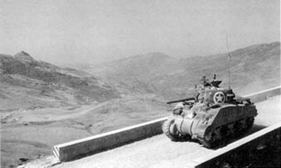 A M4A1 Sherman in Sicily