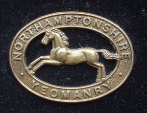 Northamptonshire Yoemanry cap badge