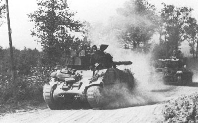 British Tanks on the Move