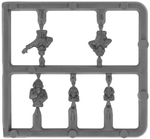 Plastic German Tank Commander Sprue