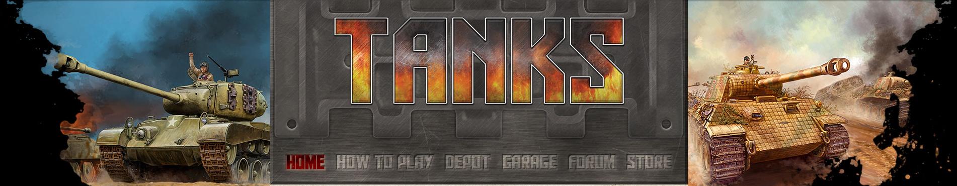 TANKS website header