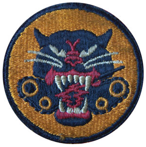 The official patch worn by the troops of the Tank Destroyer battalions.