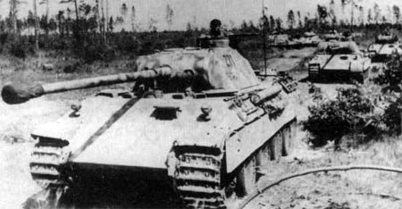 Panther D tanks on the move