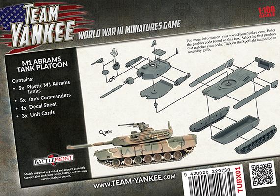M1 Abrams Tank Platoon (Plastic) (TUBX01)