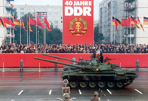 East German T-72Ms on parade