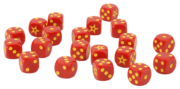 Team Yankee Soviet Dice Set (TSU900)