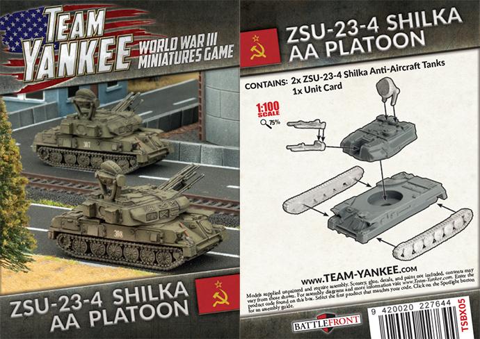 ZSU 23-4 Shilka AA Tank (x2) (TSBX05)
