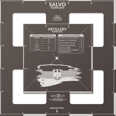 West German Salvo Template (TAT03)
