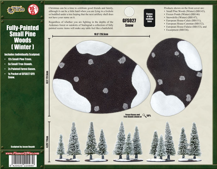Small Pine Woods (Winter) (BB145)