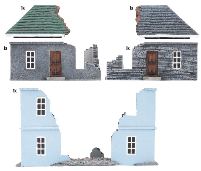 Battlefield in a Box: Ruined Buildings (BB199)