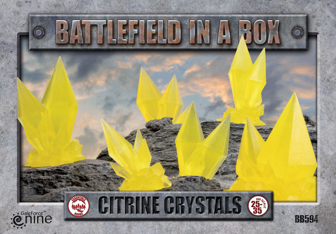 Battlefield in a Box: Citrine Crystals (BB594)