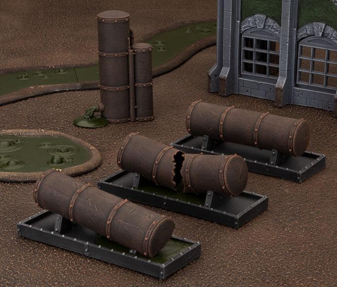Battlefield in a Box 28mm Gothic Industrial Storage Tanks BB602