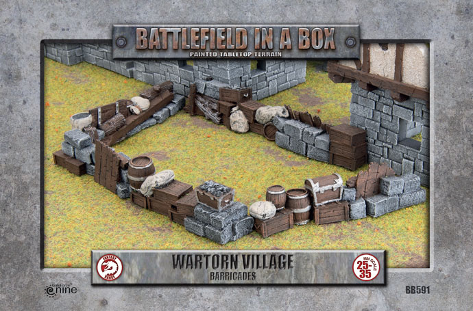 Battlefield in a Box: Wartorn Village - Ruins (BB575)