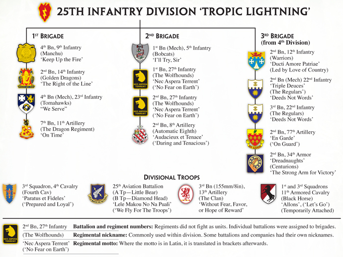 25th Infantry Division 'Tropic Lightning' Order of Battle