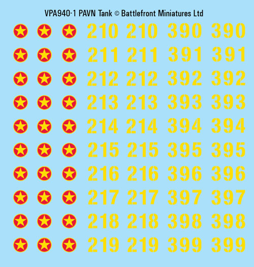 PAVN Decal Sheets (VPA940)