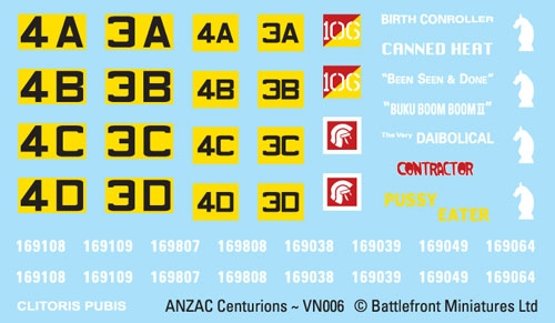 Centurion Decal Sheet (VSO109)