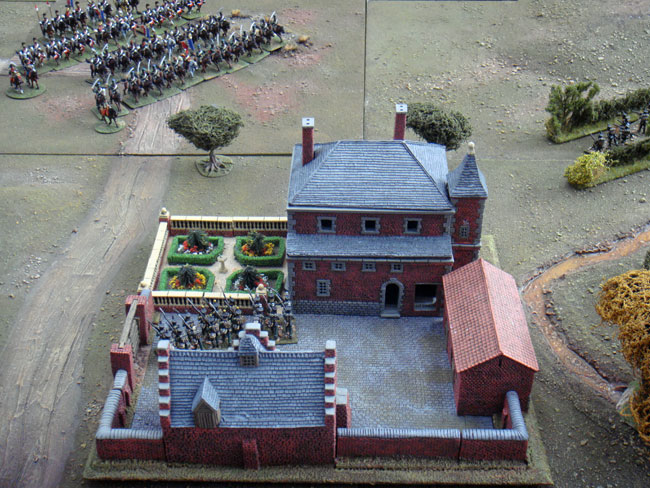 Frichermont Chateau under attack from Jaquinots cavalry