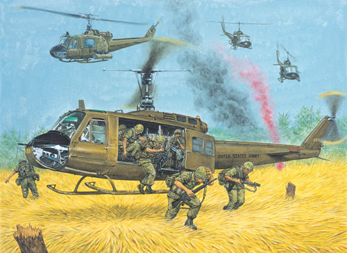Illustration by Adam Hook from Elite 154 Vietnam Airmobile Warfare Tactics