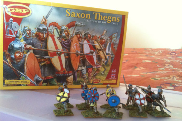 This unit of Gripping Beast plastic Saxons was painted by Chris Boynton in Maine