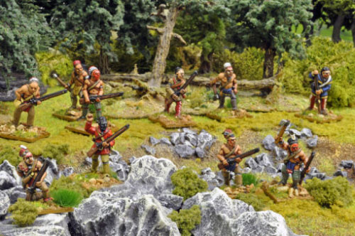 28mm Woodland Indians by Crusader Miniatures