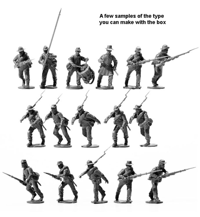 28mm American Civil War Confederate Infantry 1861 - 1865