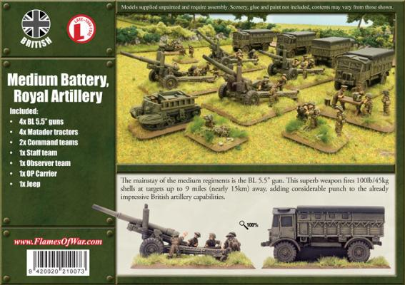 BBX13 Medium Battery, Royal Artillery