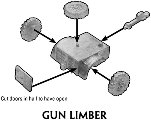 Assembly instructions for the Gun Limber