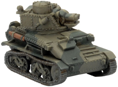 "The Light Tank VI B with Vickers 0.5"" MG"