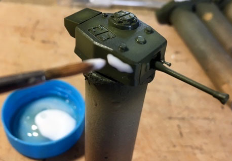 Add PVA glue to turret