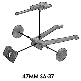 Assembly instructions of the 47mm SA-37 gun