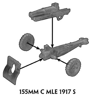 Assembling instructions of the 155mm howitzer