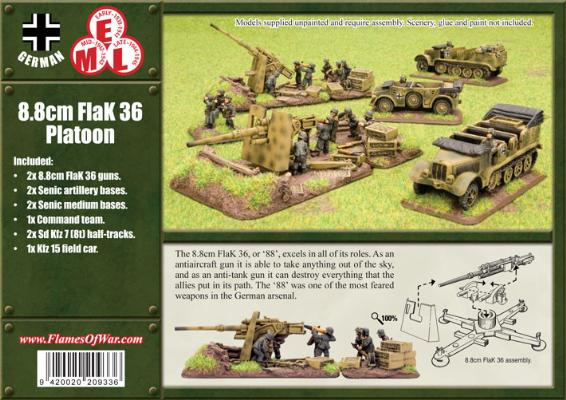 8.8cm FlaK36 gun Platoon