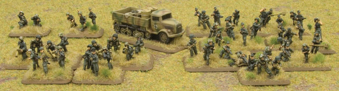 Comapny HQ and Sperr Pionier Platoon