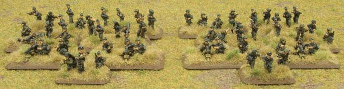 Two Sperr Platoons