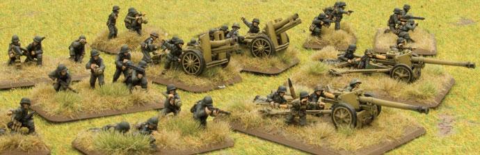 Machine-guns, infantry guns and anti-tank guns