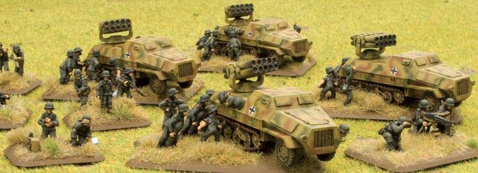 Panzerwerfer 42 rocket launchers