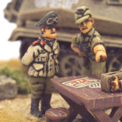 Feldmarschall Erwin Rommel (left)