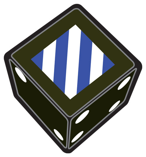 3rd Infantry Division Dice Set (DD009)