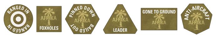 Afrika Korps Token Set (GE901)