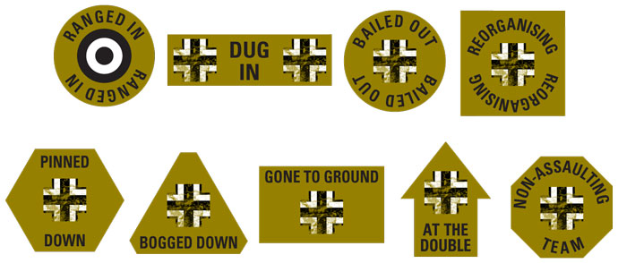 Battle Hardened Panzer Token Set (TK033)