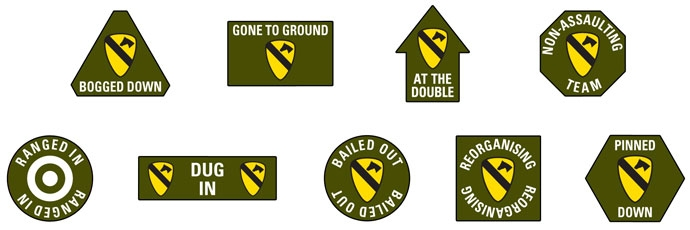 1st Cavalry Division (Airmobile) Token Set (VE003)