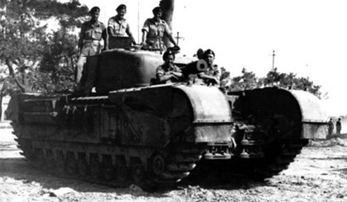 A Churchill V CS tank from the North Irish Horse