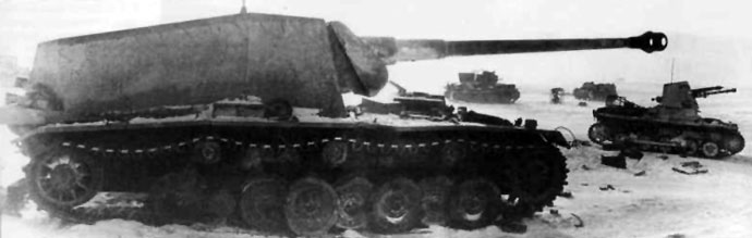 Sturer Emil and Panzerjager I from 521. PzJgAbt.