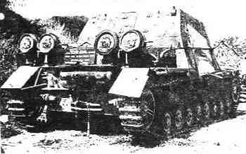Rear view of a Brummbär